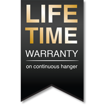 Life time warranty on continuous hanger